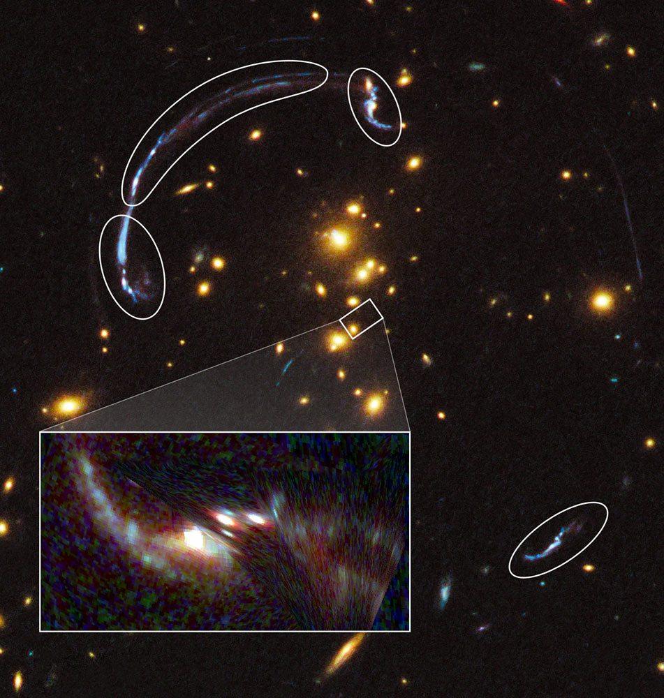Resultado de imagen de La lente gravitacional