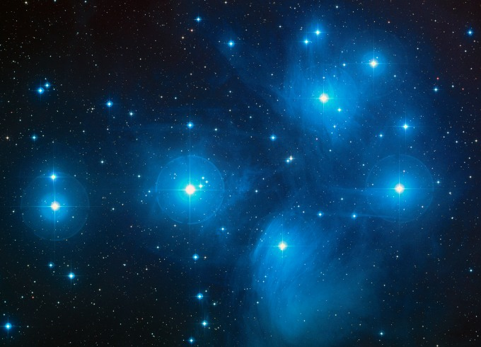 pleyades, m45, cúmulo, estrellas
