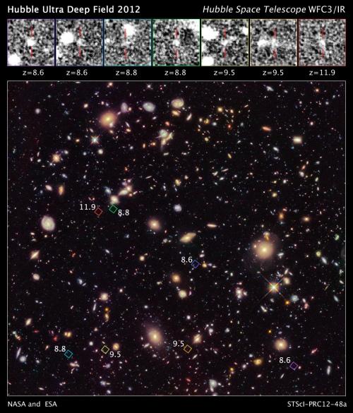 Siete nuevas galaxias en el universo
