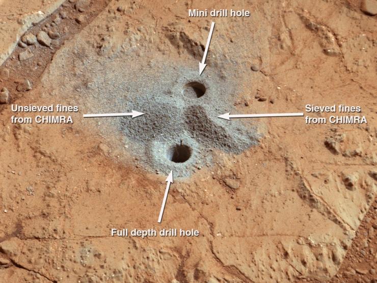 Excavación en Marte